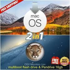 macos high sierra mac os x mounn lion bootable usb drive 16gb