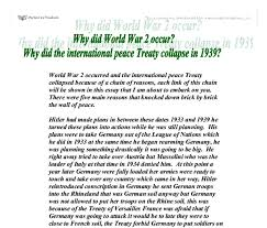 why did world war occur why did the international peace treaty document image preview