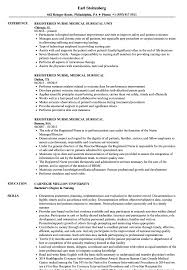 Surgical Nurse Resume Registered Nurse Medical Surgical Resume Samples Velvet Jobs
