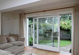 Sliding Glass With Wood Frames Balcony Door Design
