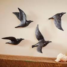 flying birds wall art ceramic