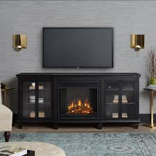real flame marlowe 70 inch electric fireplace entertainment center black 2770e bk lifestyle