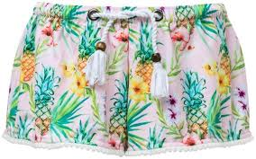 Snapper Rock Size Chart Swim Shorts For Girls Tropicana Pink