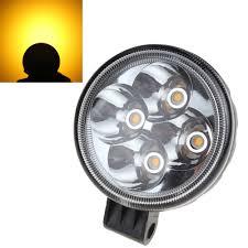 Hot 3X2 Inch Tròn 12W 12V / 24V Màu Vàng Ánh Sáng Đèn LED Xe Ô Tô Đèn LED  Công đèn Pha Đèn Cho Xe SUV/Xe Tải Hoặc Xe Máy car work light