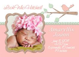 newborn baby announcement sample baby girl birth announcement template free oyle kalakaari co