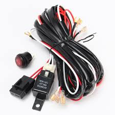 Led Light Bar Switch Wiring 40a 300w Relay Fuse Led Light Bar Wiring Harness On Off Switch For Off Road Atv Jeep