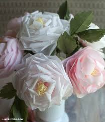 How To Make Rose Flower With Tissue Paper Make A Tissue Paper Full Bloom Rose Lia Griffith