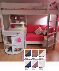 High Sleeper Bed with Desk and Sofa Bed from Bunk Beds 2U