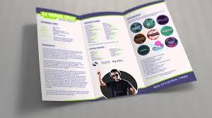 Resume Brochure Template resume pamphlet Enderrealtyparkco 1