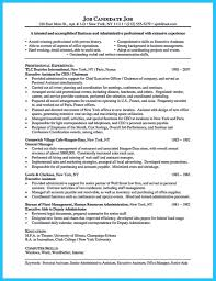 042 Template Ideas Executive Assistant Resume Templates Word