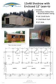 Stables Design Layout This 12x48 Shedrow Barn Becomes A Lot More Functional With