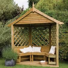 Garden & Landscape:Wooden Gazebo With Small Garden Modern Garden Gazebo  Design Ideas