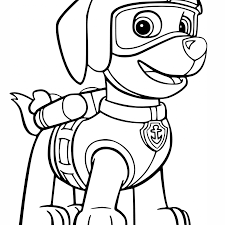 Rubble Paw Patrol Coloring Page With Paw Patrol Coloring Pages Free