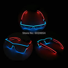 Neon Light Glasses Us 6 13 25 Off Cheap Price Men Gift Colorful Neon Light Up Glowing Sunglasses Led El Wire Men Sun Glasses Bright Glasses In Mens Sunglasses From