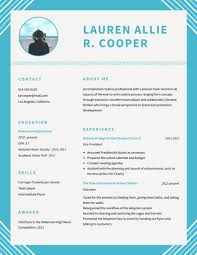 resume school blue simple high school resume templates by canva