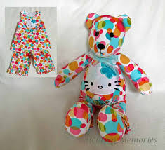 Pattern For Teddy Bear Made From Loved Ones Clothes