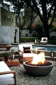 modern fire pits linear pit outdoor gas contemporary concrete