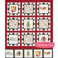 Quilt Panels Fabric | Christmas Cloth Store & Anne of Green Gables Christmas Digitally Printed Cream Block Quilt Panel  SKU# PD6496-CREAM ... Adamdwight.com