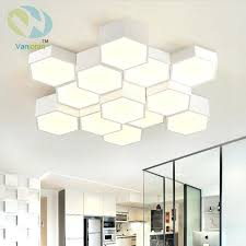 Office ceiling light covers Stained Glass Skylight Office Ceiling Lights Simple Modern Living Room Bedroom Office Ceiling Light Led Geometric Hexagonal Honeycomb Ceiling Office Ceiling Lights Chernomorie Office Ceiling Lights Office Ceiling Light Covers Beautiful