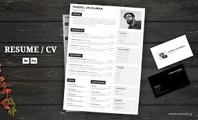 Resume Template Ms Word Adobe Photoshop Tanzeel Ur Rehman