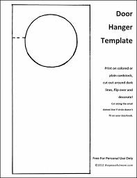 door hangers templates. Doorknob Hanger Template Free Door Word Madratco Knob Hanging Signs Hangers Templates