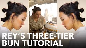 Rey Hair Style how to get reys threetier bun youtube 5581 by wearticles.com