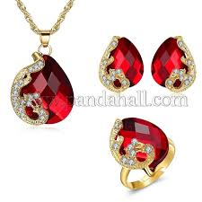 exaggeration style metal jewelry sets sjew bb29712 1