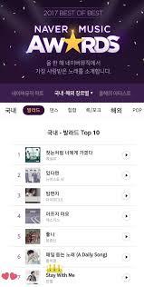 Naver Music Chart Exo Chart Records Exo Tops Multiple 2017 Best Of Best