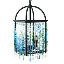 sea glass chandelier 13916