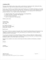 Accepting Offer Letter Sample Thank You Acceptance Of Job Offer Letter New Email