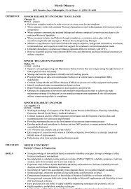 Reliability Engineer Resume Senior Reliability Engineer Resume Samples Velvet Jobs 2