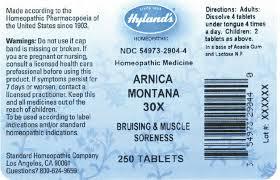 「Hyland's Arnica Montana 30x -- 250 Tablets」的圖片搜尋結果