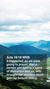 Acts 16:16 WEB Mobile Phone Wallpaper ...