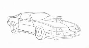 Small Picture Camaro Outline Drawing Coloring Coloring Pages