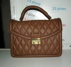 vera bradley 3 section lydia satchel rare cognac brown leather shoulder nwtt