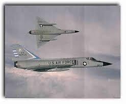 vintage convair f 106 delta dart interceptor aircraft wall decor art print 16x20