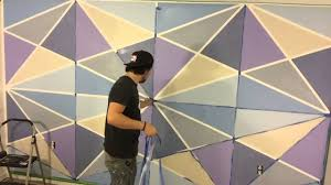 geometric wall paintGeometric wall paint  YouTube