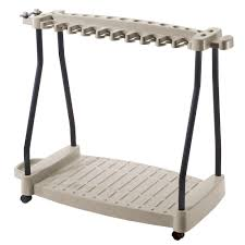 resin wheeled tool storage rack