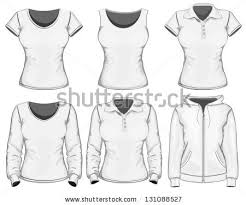 How To Draw Girl Shirts Women Wearing T Shirt Template Download Free Vector Art Stock