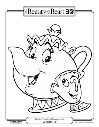 Beauty And The Beast Coloring Pages Print Jokingartcom Beauty And