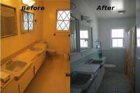 mid century bathroom. 07 Before And After Mid Century Bathroom -