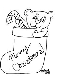 Page Christmas Stocking Coloring Pages Templates