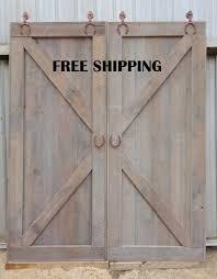 x brace double sliding barn door room by whatmanbarnfurniture