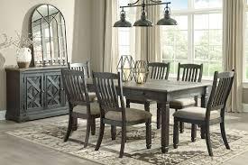 black wood dining room sets. Tyler Creek Black And Gray Rectangular Dining Room Set Wood Sets