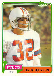 Amazon.com: 1981 Topps Football #472 Andy Johnson New England Patriots  Official NFL Trading Card in EX-MT or better Condtion: Collectibles & Fine  Art