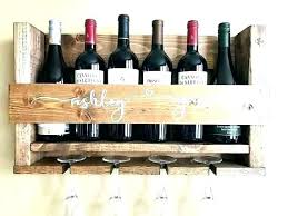 wine wall shelf wine glass holder shelf wall rack wood mounted plans natural wine box wall shelf
