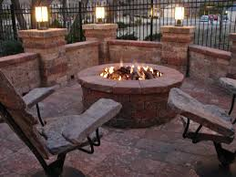 rustic fire pit. Propane Fire Pit Seating Sets Metal Rustic Outdoor Table With Fireplace Dining In The Middle