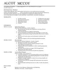 Brand Manager Resume Template Best of Brand Manager CV Example For Marketing LiveCareer