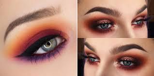 orange eyeshadow prom makeup ideas