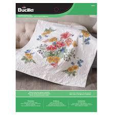 Shop Plaid Bucilla ® St&ed Cross Stitch - Lap Quilts - Flowers ... & ... Bucilla ® Stamped Cross Stitch - Lap Quilts - Flowers From the Garden Adamdwight.com